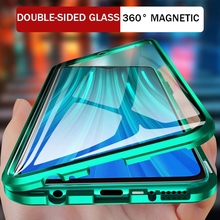 360 Magnetic Metal Adsorption Case For Xiaomi Redmi Note 10 9S 8 7 9 8T 9A 9C 8 8A Mi 11 10 10T Pro Lite POCO X3 NFC M3 F3 Cover