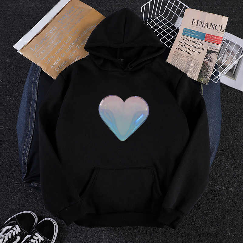 Heart Logo Korea Loose All Match Jumper Casual Female Sweatshirts Women Hoodies Tracksuit Sudaderas Mujer   Fashion Autumn New