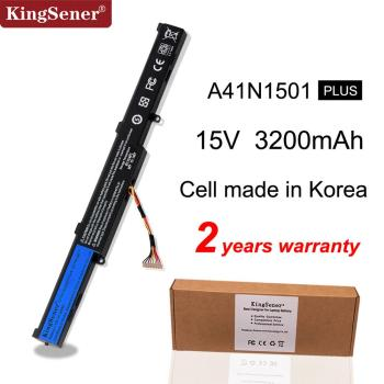KingSener Korea Cell A41N1501 bateria do asus GL752JW GL752 GL752VL GL752VW N552 N552V N552VW N752 N752V N752VW N752VX A41LK9H tanie i dobre opinie Li-ion 4 Komórki Black 4 Cell made in Korea high quality Brand New China 2 Year 48WH Stock
