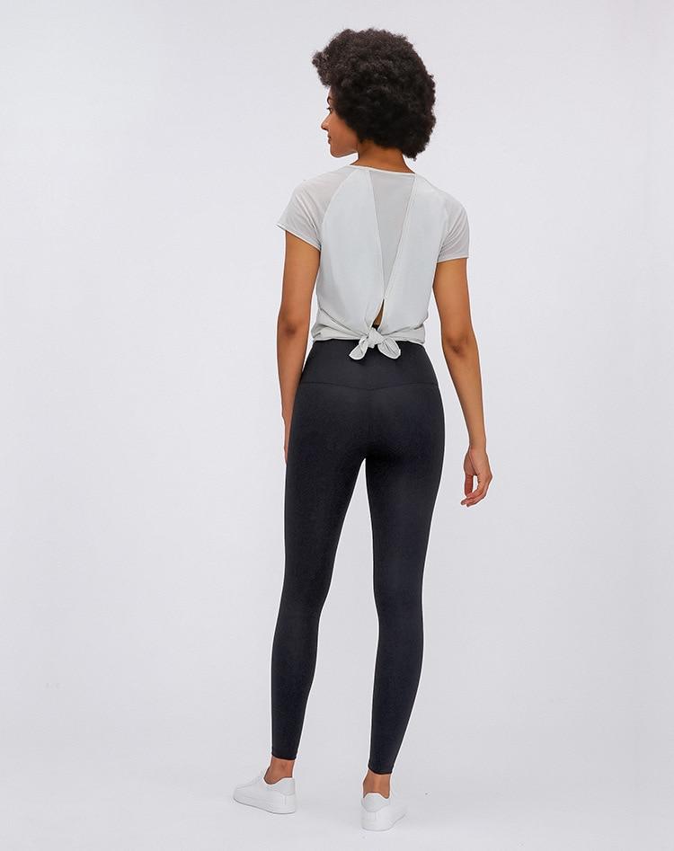 camiseta feminino ultra-leve simples esporte fitness workout