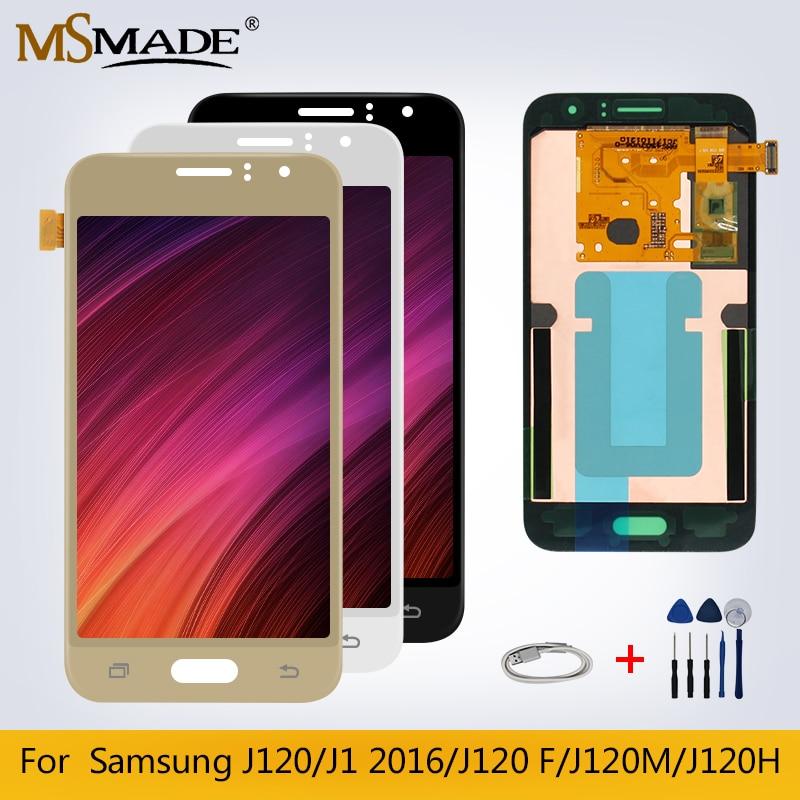 LCD d'origine pour Samsung Galaxy J1 2016 J120 J120F J120M J120H écran LCD tactile écran numériseur pièces de rechange + cadeau