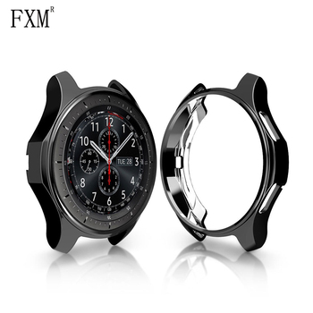 Gear S3 Frontier Case for Samsung Galaxy Band Strap Cover Plated All-around Protective Case Shell Frame Soft TPU Watch 46mm 42mm protective cover for samsung gear s3 frontier case tpu plated all around protective bumper shell smartwatch r760 cover frame