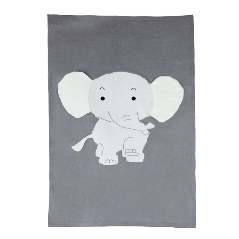 FBIL-Baby Blankets Newborn Cute Big Elephant Ear Blanket Soft Warm Knitted Swaddle Kids Bath Towel Baby Toddler Bedding Blankets