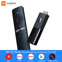 Xiaomi Mi TV Stick Android TV 9 0 1080P dekodowanie dźwięku Dolby DTS Wifi asystent Google Chromecast Netflix Smart TV Box 1GB 8GB tanie tanio CN (pochodzenie) W zestawie Wysokiej rozdzielczości Hdmi 100 gb 1080 p (full hd) Quad core CotexA53 ARM Mali-450 1GB RAM 8GB ROM