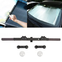 Kaneed 80cm Car Retractable Windshield Sun Shade Block Sunshade Cover for Solar UV Protect