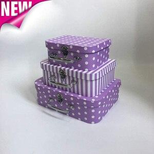 3 шт./компл. чемодан с цветными волнистыми точками, розовая Праздничная коробка на День святого Валентина, вечерние свадебные украшения, Под...