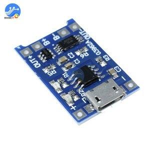Image 2 - 10pcs BMS 18650 리튬 이온 리튬 배터리 충전기 보호 보드 5V1A 마이크로 USB 마이크 증폭기 배터리 밸런서