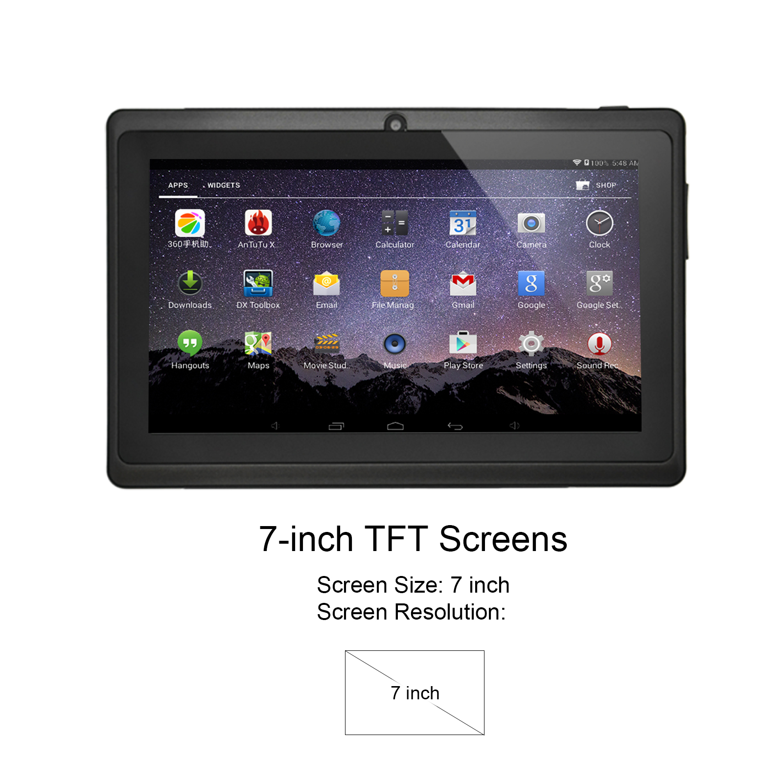 Xgody 7 Inch Kids Tablet Android 8.1 Touchscreen Dual Core Tablet With 1GB +8GB Wiht Adult And Children Mode Tablet