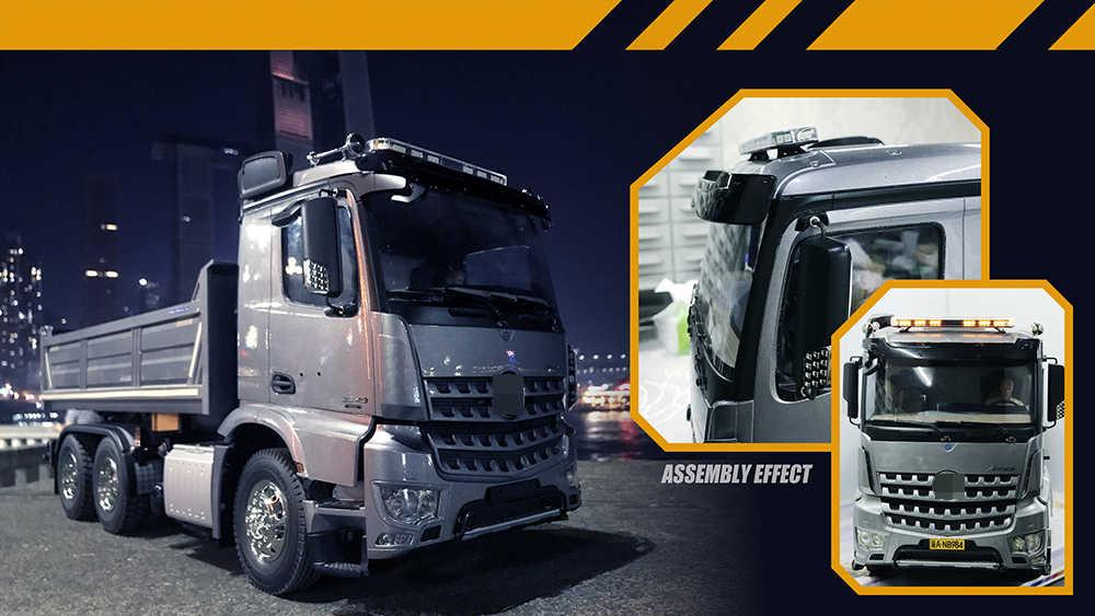 Led Brandbestrijding Techniek Waarschuwing Ambulance Licht 4 Kleur 18 Modus Voor 1/14 Tamyia Rc Truck Dump Scania Actros Acros Man 3363