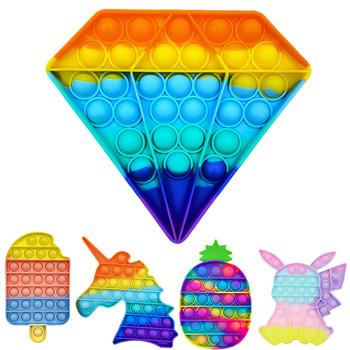 Push Bubble sensoryczna zabawka spinner autyzm antystresowy zabawki dla dorosłych dziecko śmieszne antystresowe tanie i dobre opinie TAKARA TOMY CN (pochodzenie) 7-12y 12 + y Fidget Reliver Stress Toys Rainbow Push It Bubble Antistress Toys Certyfikat europejski (CE)