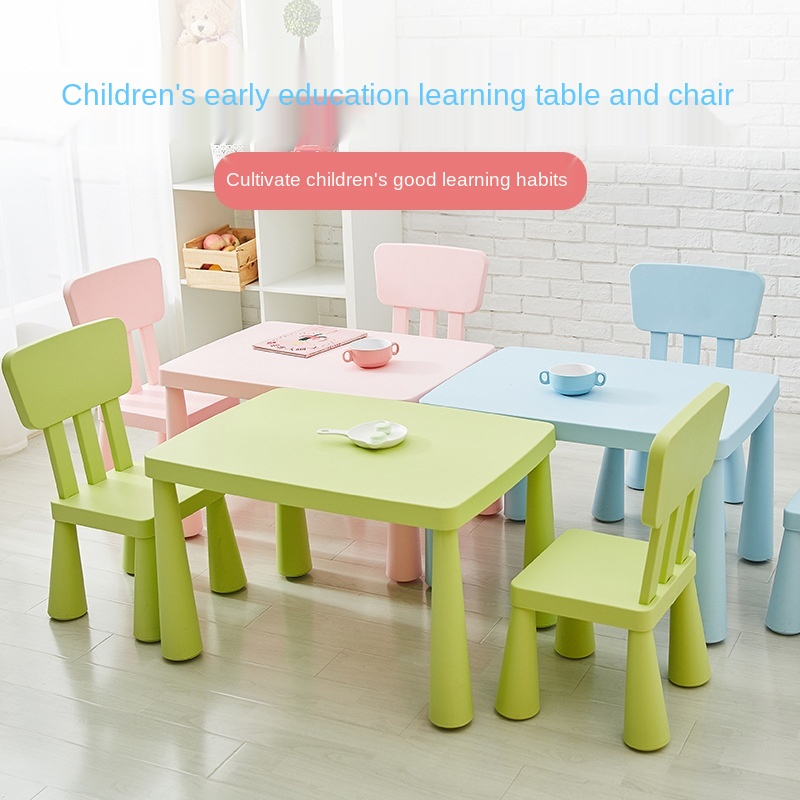 Kindergarten Plastic Children Learning Table Household Baby Furniture Kids Table And Chair Set