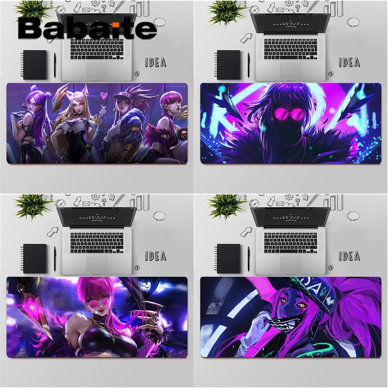Babaite Top Quality League of Legends LOL KDA Locking Edge Mouse Pad Game Free Shipping Large Mouse Pad Keyboards Mat
