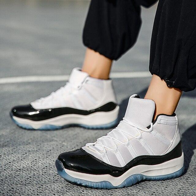Calzado de baloncesto de marca para Hombre y mujer, zapatillas deportivas acolchadas de alta calidad, cómodas, color negro, nuevo 4