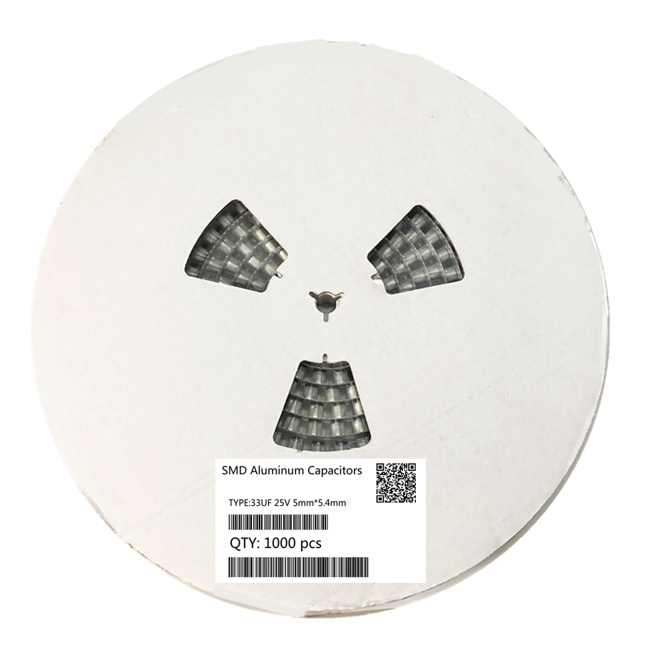 Original 1000pcs 33UF 25V 5mm*5.4mm SMD Electrolytic Capacitor 20%
