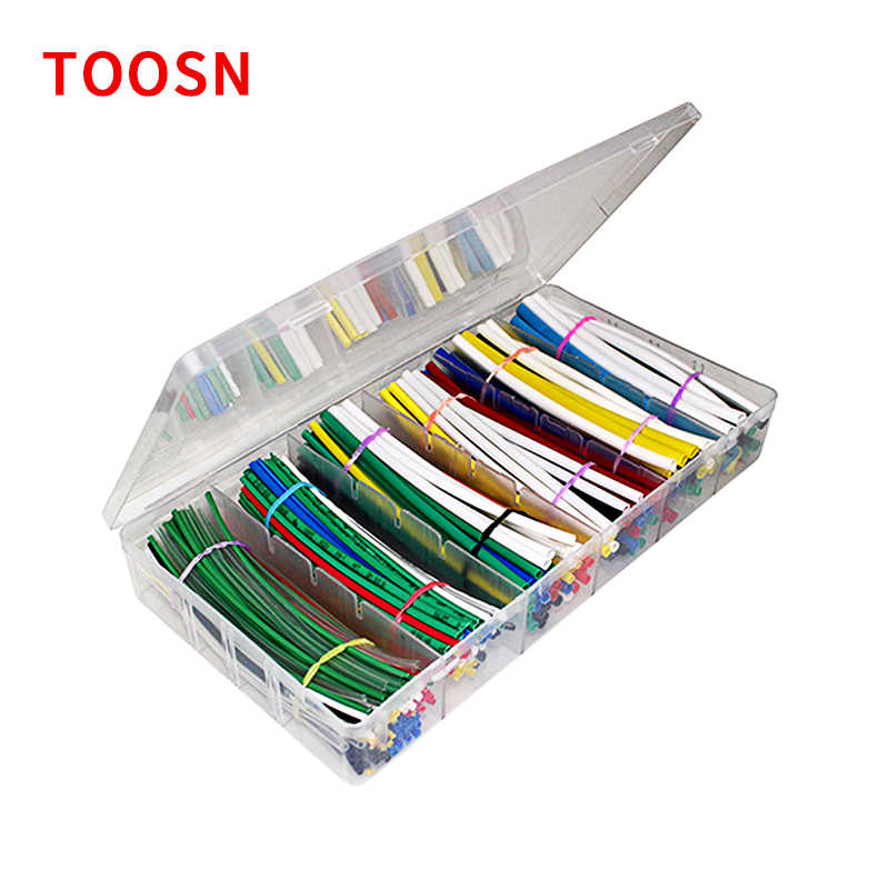 TOOSN 315 Pcs Shrinkable tube kit with box Heat shrink sleeve Guaina termorestringente Termoretractil 7 Colors Diameter 1-3.5mm