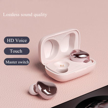 Tws Headphone Wireless Waterproof Earphone Bluetooth 5.0 HiFi Earbuds With Mic Charging Box Sport Plating Headset Touch Control ubit s9100 touch control mini twins earbuds tws earphone waterproof bluetooth headset handsfree with charging box for smartphone