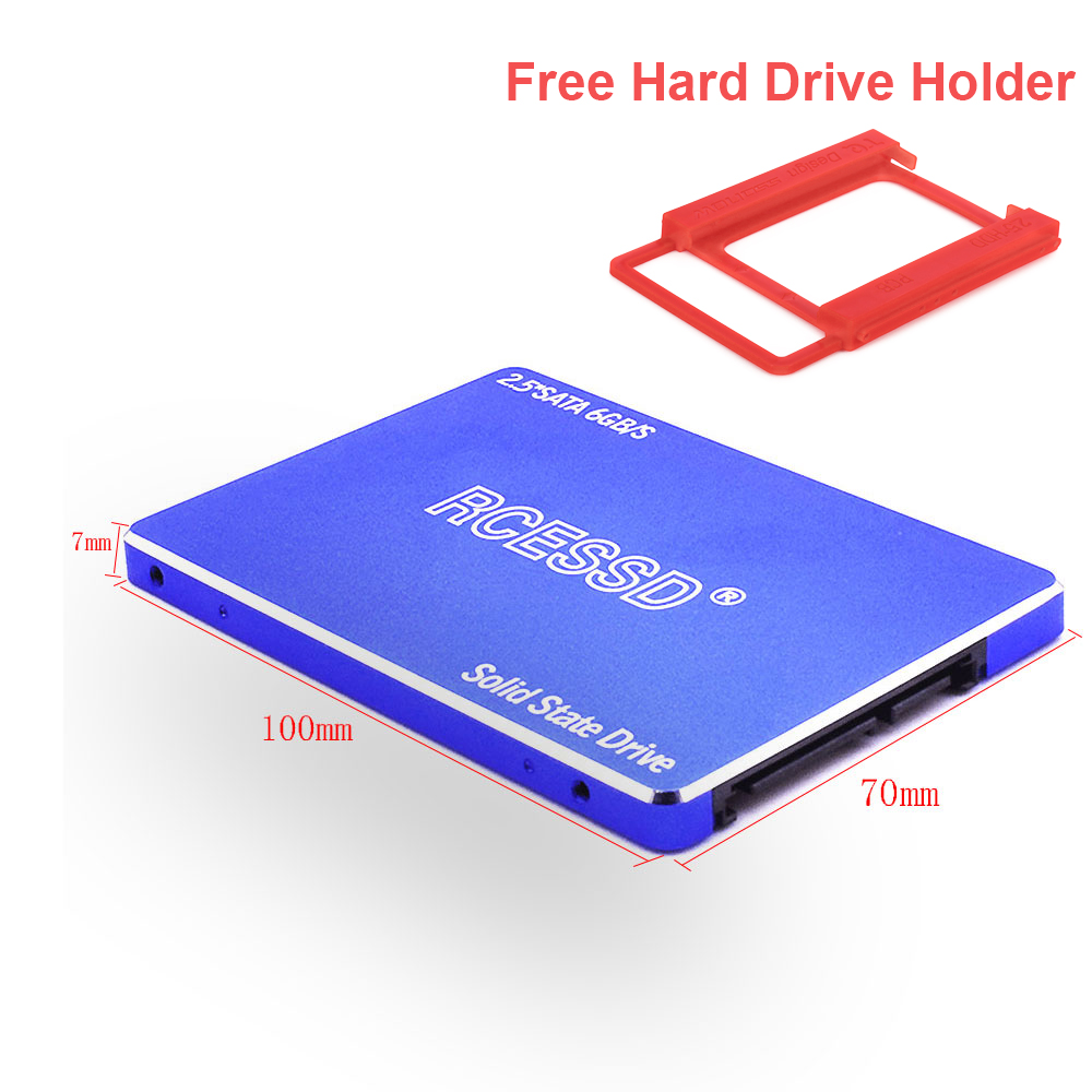 RCESSD Metal 120GB 240GB 480GB 2.5 Inch SATA III HDD Hard Disk HD SSD Notebook PC 120 240 480 G Internal Solid State Drive