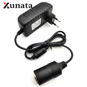 220V AC to 12V DC Mini 1A 2A 3A EU Standard Plug Car Cigarette Lighter Charger Transformer Adapter Socket Car Electronic Devices image