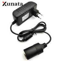 220V AC to 12V DC Mini 1A 2A 3A EU Standard Plug Car Cigarette Lighter Charger Transformer Adapter Socket Car Electronic Devices