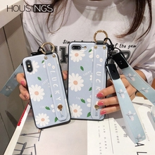Avocado Flower Neck Wrist Strap Phone Case For iPhone 6s 7 8 Plus Heart Lanyard iPhoneX XR XS Max Shockproof Soft