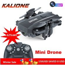 Mini drone quadrirotor RC avec came 1080P Wifi FPV Dron pliable Altitude tenir RC Quadrocopter poche Selfie Drones professionnel(China)