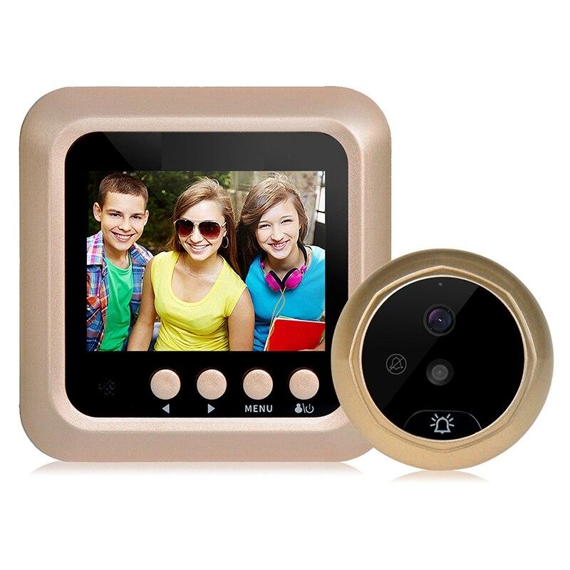 2,4 дюймовый цветной ЖК-экран 160 градусов ИК ночной дверной глазок камера фото/видео запись цифровая дверная камера