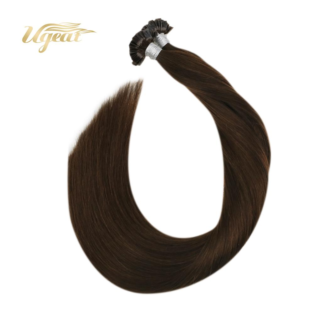 Ugeat Pre-Bonded Human Hair Extensions 14-24