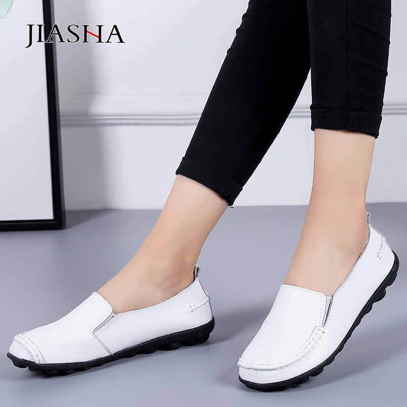 Women shoes soft genuine leather shoes