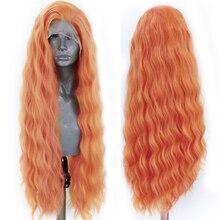 Красный парик харизмы, длинный волнистый синтетический парик на сетке спереди для женщин, натуральные волосы, термостойкие парики на сетке,...
