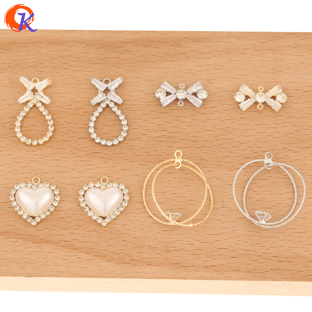 Cordial Design 50Pcs Jewelry Accessories/Hand Made/Earring Findings/Rhinestone Claw Chain/Connectors For Earrings/DIY Charms
