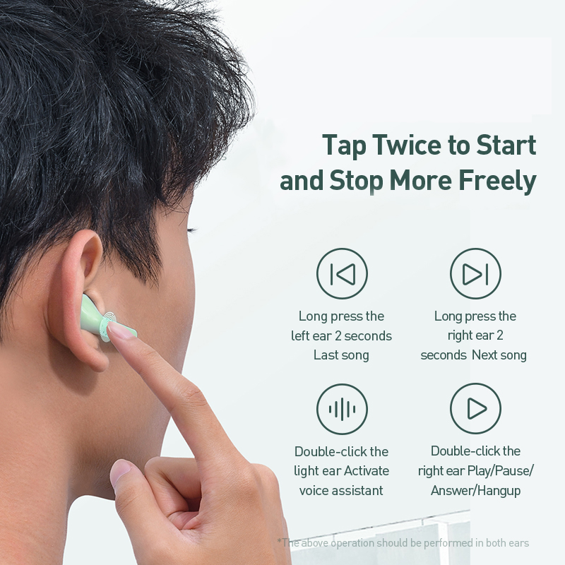Baseus W09 TWS Wireless Bluetooth Earphone Intelligent Touch Control Wireless TWS Earphones With Stereo bass sound Smart Connect