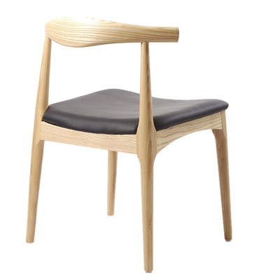 Solid Wood Croissant Chair Simple Nordic Household Backrest Stool Coffee Restaurant Milk Tea Shop Dining Table And Chair Combina