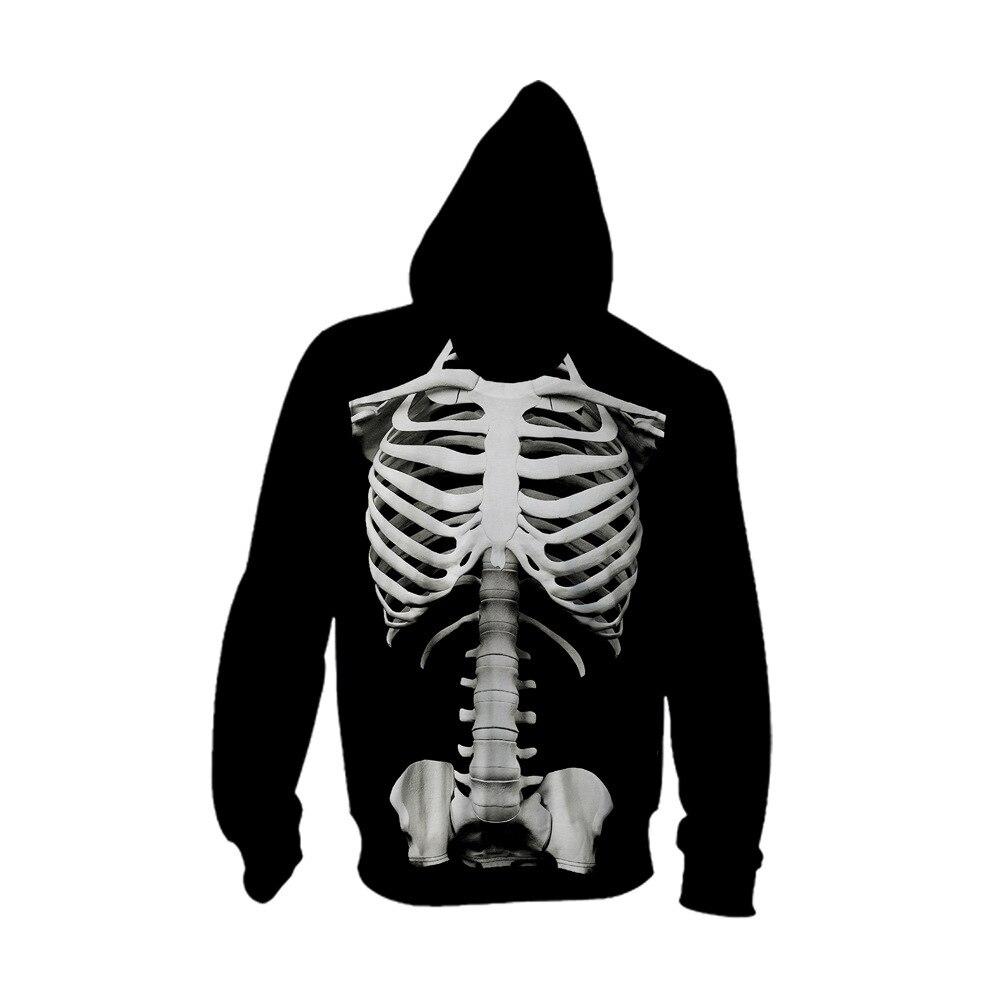 Cárdigan y gorra de hombre con estampado de calavera en otoño 2019 streetwear hip hop hoodie para hombre hoodies blusa hoodies - 2
