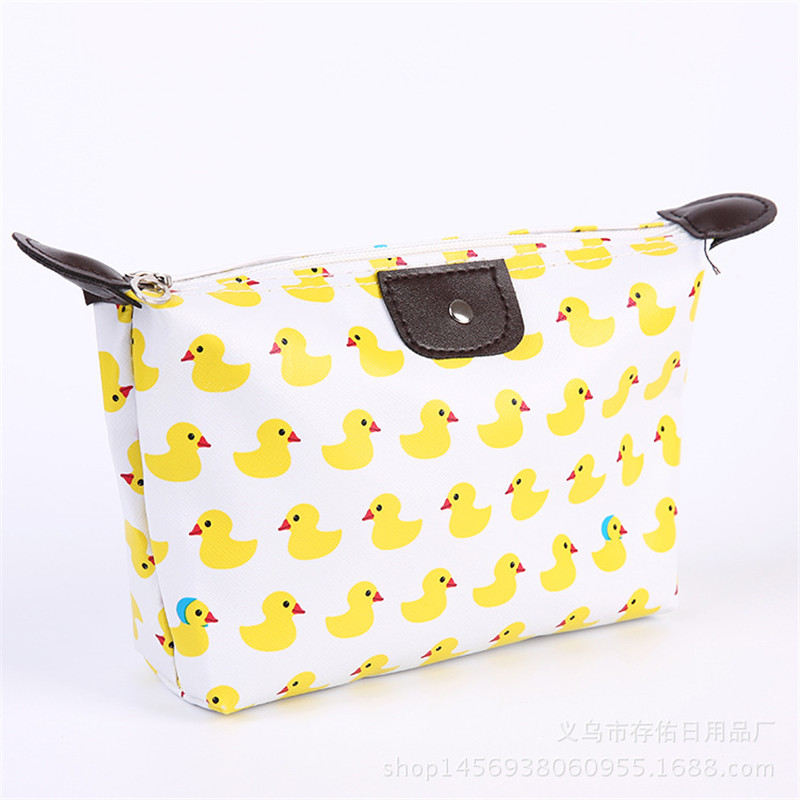 Fashion Multifunction Beauty Cosmetic Dumpling Makeup Bag With Floral Pattern Women Travel Clutch Bag Handbags Waterproof Bag