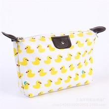 Fashion Multifunction Beauty Cosmetic Dumpling Makeup Bag With Floral Pattern Women Travel Clutch Bag Handbags Waterproof Bag