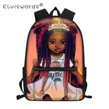 Cute School Bag Girl Afro Girls Black Queen Backpack for Teenager  Notebook Schoolbag African Book