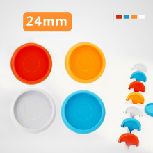 30PCS 24MM Binding Ring Notebook Mushroom Hole Button Plastic  Buckle Disc Notepad Loose-leaf