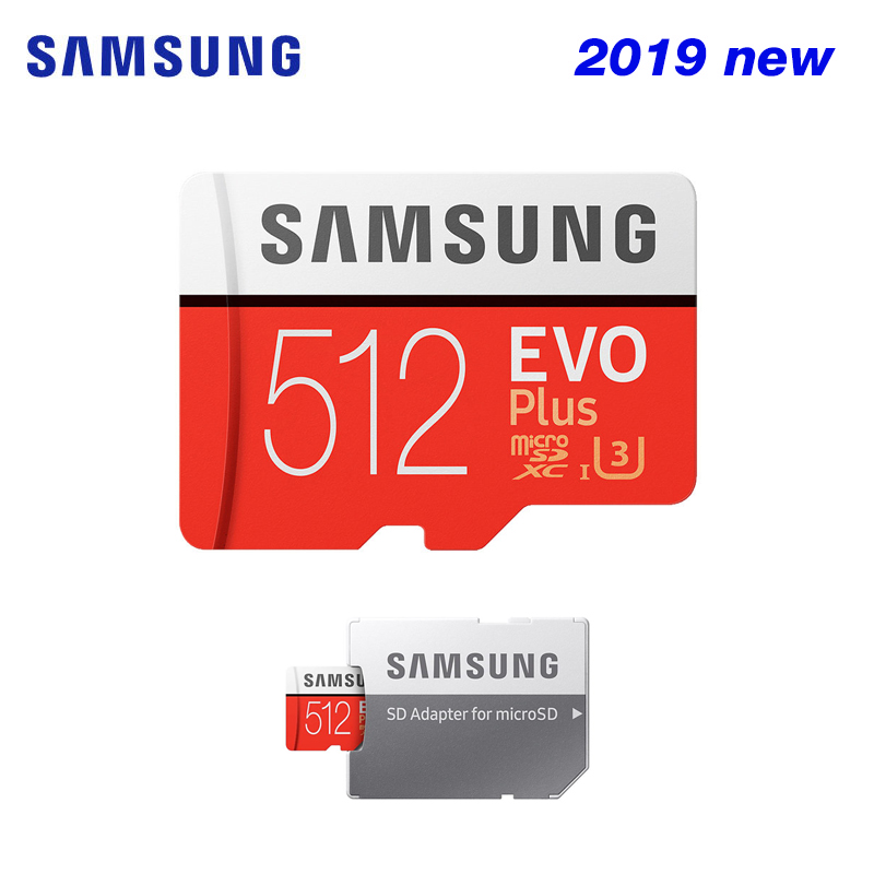 SAMSUNG New Micro SD Memory Card EVO Plus 512GB 256GB 128GB C10 MicroSDXC/SDHC U3 U1 TF Card 100% Original