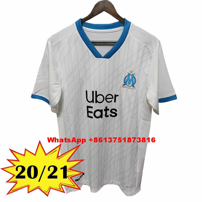 Maglia Olympique Marseille 2020-2021 Calcio Shirt Payet Benedetto Jersey OM