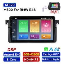 MEKEDE auto Radio Multimedia reproductor de vídeo navegador estéreo para BMW E46 M3 318i 320i 325i carplay SWC BT FM