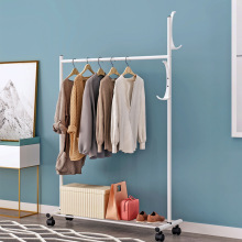Simple and movable wardrobe floor clothes rack in bedroom hanging clothes rack drying clothes rack storage rack storage rack
