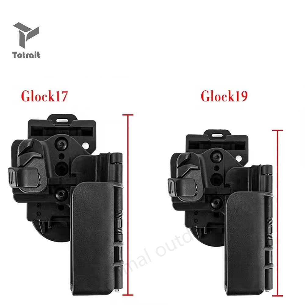 Totrait New Tactical Condition 3 Carry Quick Holster Right Hand OWB Military Army Gun Holster Fit For Glock 17 19 Black