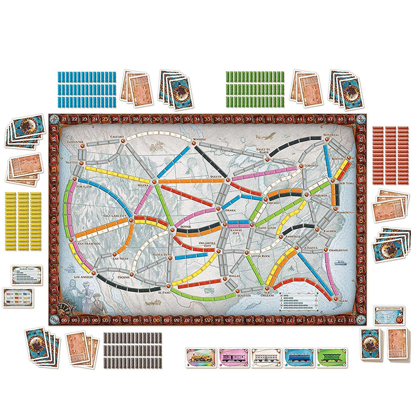 English US /European Edition Board game Ticket To Ride Family  Party Table Game Party Games For 2-5 Players