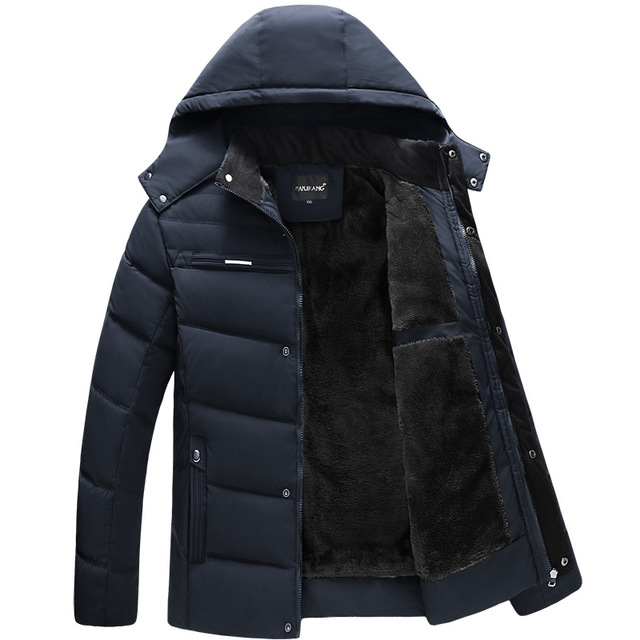 Fashion Parka Men Jacket Coats Thicken Warm Winter Jackets Casual Men Parkas Hooded Outwear Cotton padded Jacket Clothes Winter