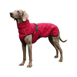 Image 5 - Hurtownia odzieży dla zwierząt domowych kurtka dla psa zimowe ubrania dla psów czerwone ubrania dla psów Golden Retriever wodoodporny duży pies kurtka czarny