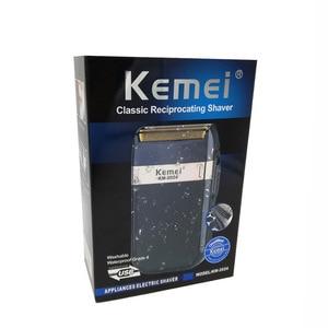 Image 5 - Kemei מכונת גילוח לגברים תאום להב עמיד למים הדדיות אלחוטי Razor USB נטענת גילוח מכונת בארבר גוזם