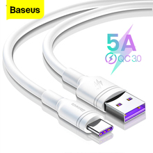 Baseus 5A USB Type C Cable For Huawei Mate 30 20 P30 P20 P10 Pro Lite P Smart USBC Type-C Cable Fast Charging USB-C Charger Cord linkpin 5a usb type c cable for huawei mate 30 20 p30 p20 p10 pro lite 40w fast charging charger usb c type c cable wire cord