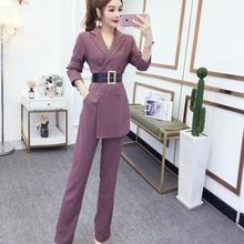Spring Rompers Women Jumpsuit With Belt Autumn Elegant Offic