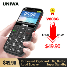 UNIWA V808G Strong Torch Push-Button Loud Cellphone Big SOS 3G English Russian Keyboard 10 Days Stan
