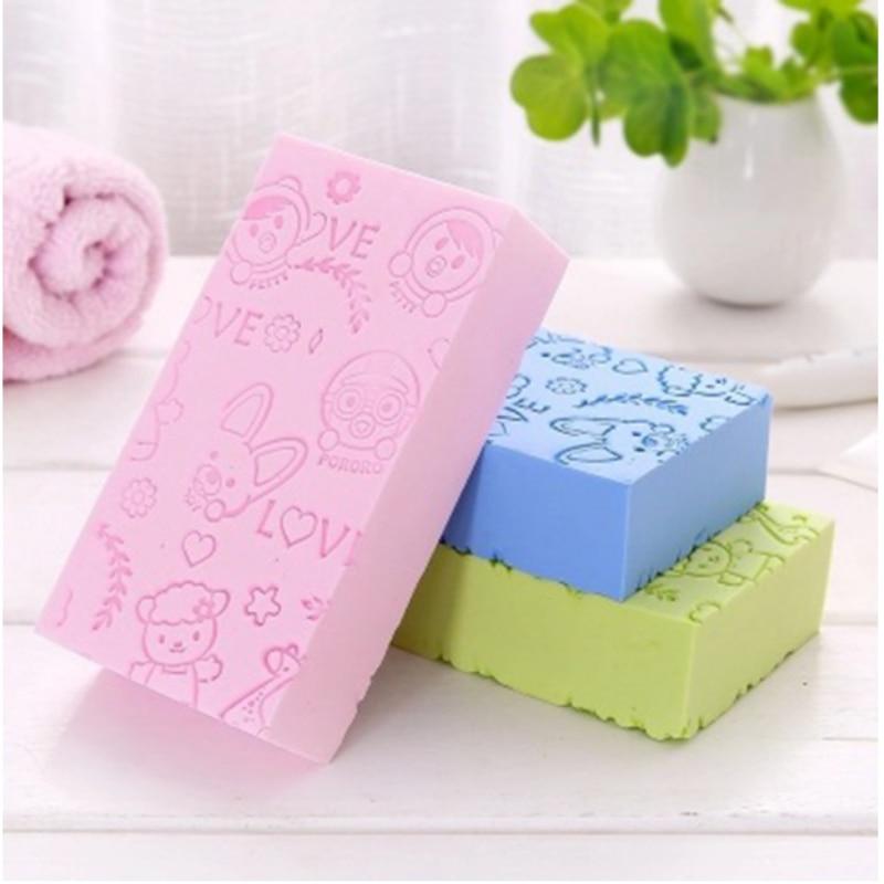 Bath Sponge Lace Printed Scrub Shower Baby Bath Scrubber Exfoliating Beauty Skin Care Sponge Face Cleaning Spa Bath Ball 1pc